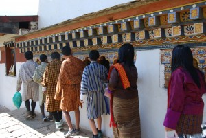 The tradition of circumambulation is an integral part of Bhutanese culture.
