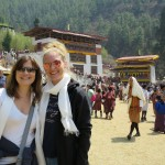 Tricia & Lindsay at the Paro Tshechu Festival