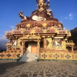 The giant bronze statue of Guru at Takila, Lhuntse district in eastern Bhutan